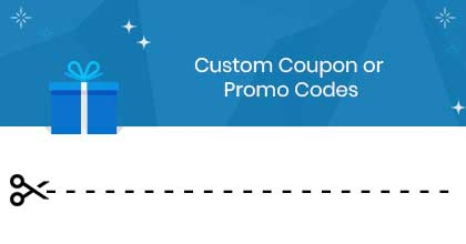 Custom Coupon or Promo Codes