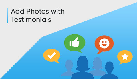 Add Photos with Testimonials