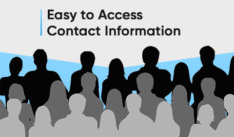 Easy to Access Contact Information to increase online sales