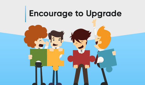 Encourage to Upgrade Software or Apps to increase online sales