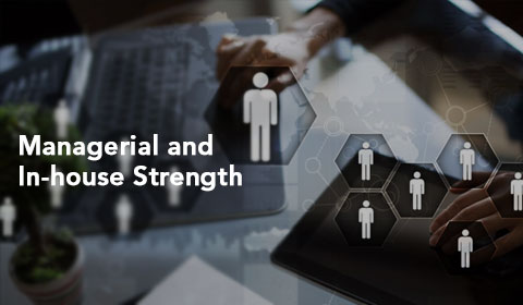 Managerial and in house strength
