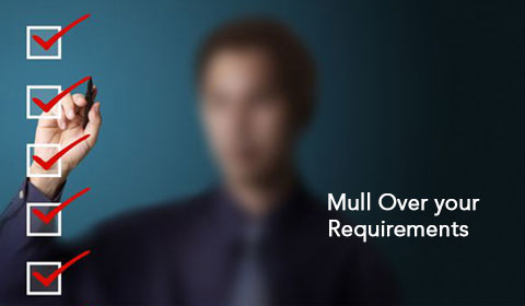 Mull over your requirements