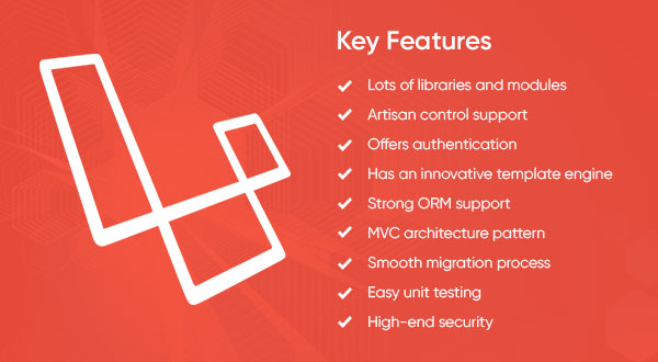 Key features of Laravel by Protocloud