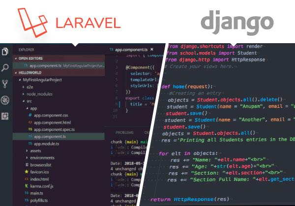 laravel vs django coding comparison