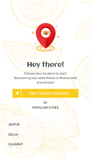 food delivery app current location