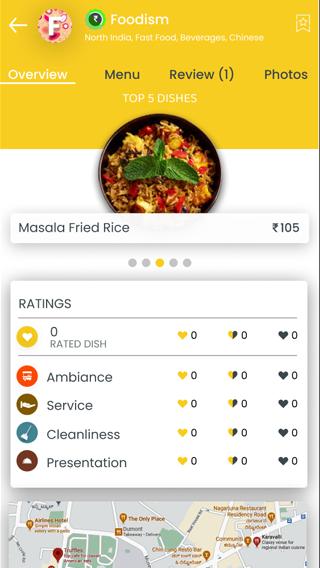 food ordering app ratings