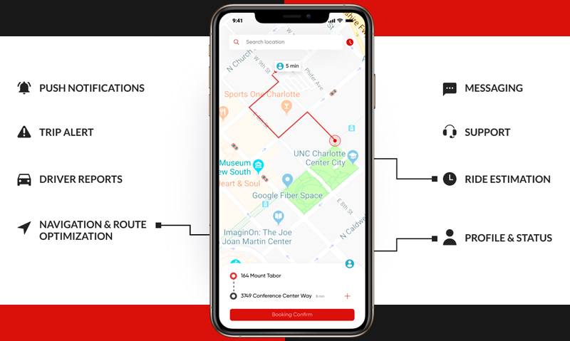 driver app functionality