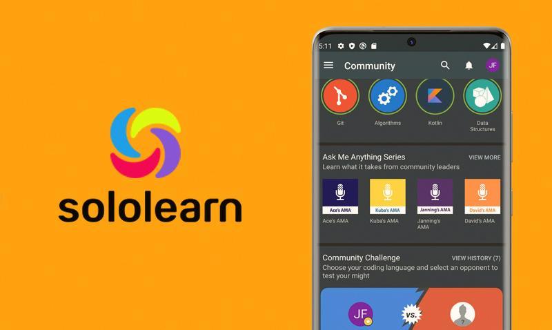 logo of sololearn app in a image